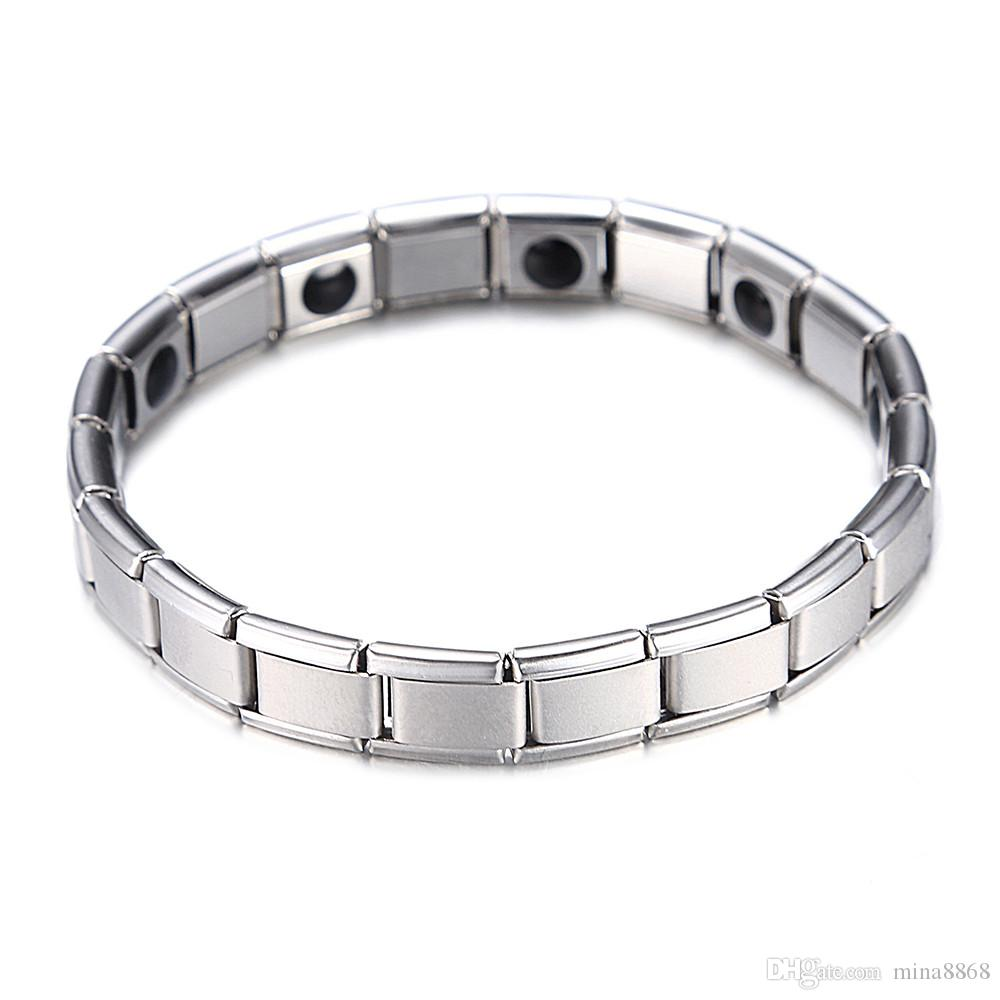 Fashion Silver Plated Health Magnetic Bracelet For Women Top Quality Stainless Steel Magnet Bracelets & Bangle link Chain Jewelry Wholesale