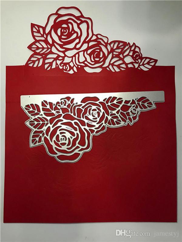 Ремесло резки умирает цветок розы пригласительный билет тиснение трафарет ремесло умереть для бумаги карты альбом книга скрапбукинга рамка Decorati