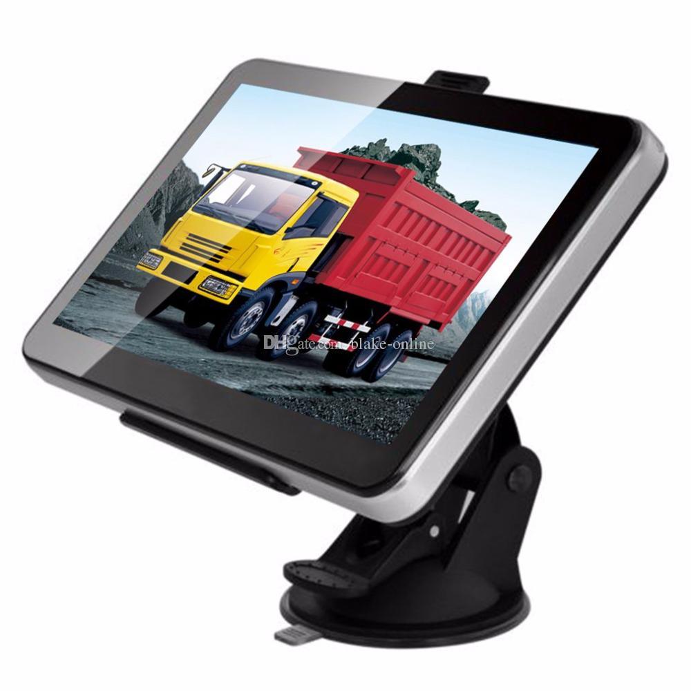 HD 7-дюймовый Авто Автомобильный GPS-навигатор Грузовик-навигатор AVIN Bluetooth Hands Free Звонки FM-передатчик Бесплатно 8GB 3D Карты