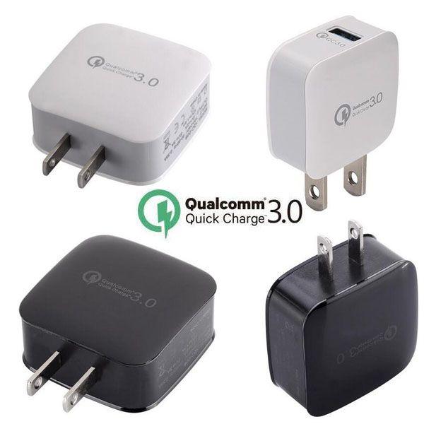 Qualcomm Quick Charge 3.0 US Travel Wall Cargador adaptador de corriente QC 3.0 enchufe de carga rápida para iphone 5 6 7 plus para samsung s6 s7 s8 plus pc