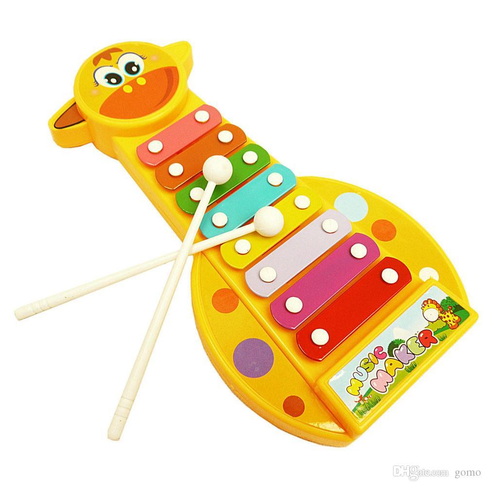 Yeni Çocuk Çocuk Bebek 8-Note Ksilofon Müzikal Oyuncaklar Oyuncaklar Ksilofon Hikmet Juguetes Müzik Enstrüman Ücretsiz Nakliye Oyuncaklar için çocuk