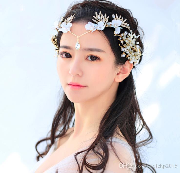 Sonnenblume-Mädchen-Blumen-Verzierungsstagbrauthabe handgemachtes Bandkronen-Hochzeitskleidzubehör-Herzart