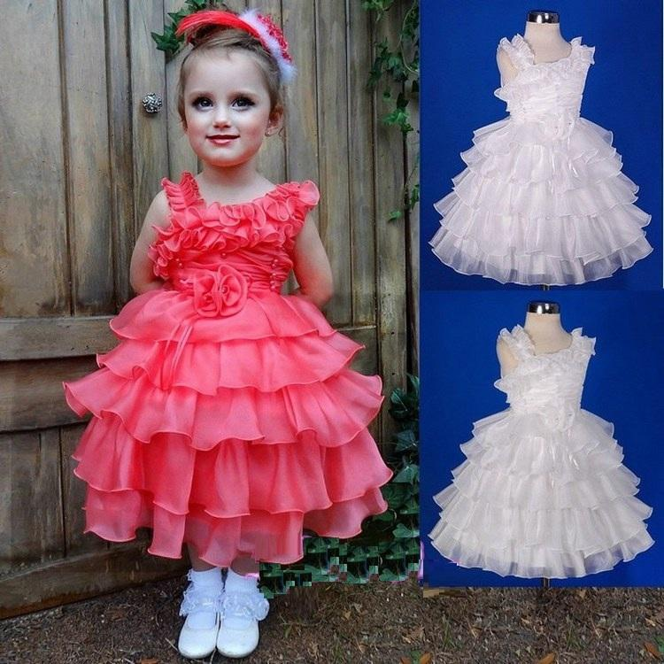 Affascinante occasione speciale Pincess Pageant Flower Girl Dresses Birthday Party Dress Bambini Prom Gown Bambini Dress GHYTZ362