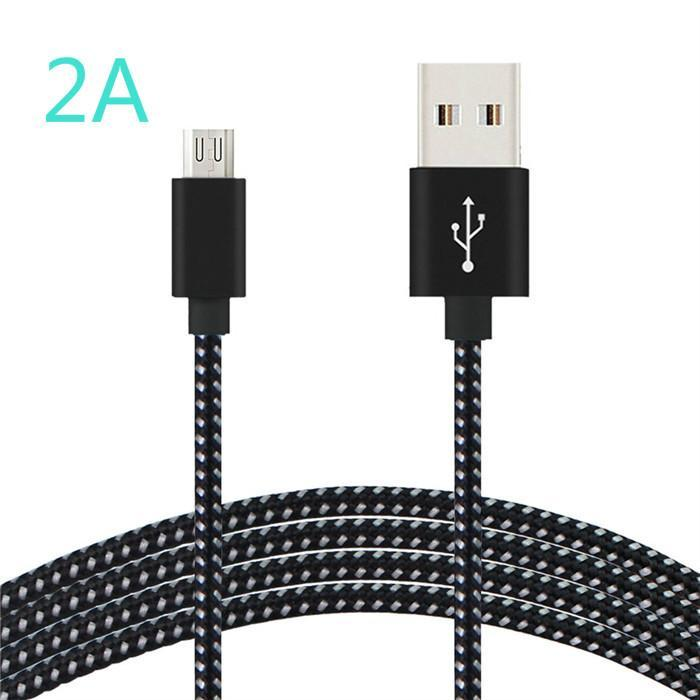 Fast Charging Cable for iphone Data Sync Charger Cord Nylon Braid Long Wire 3m USB To Micro Cable For Android Phone Type c charging cables