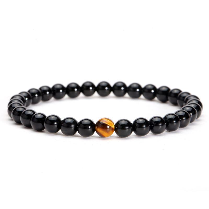 Magic Fish Hematite Beaded Bracelets Yoga Jewelry Bracciali Stone Bracelet Pulseiras Natural Black Stone Beads Bracelet Men