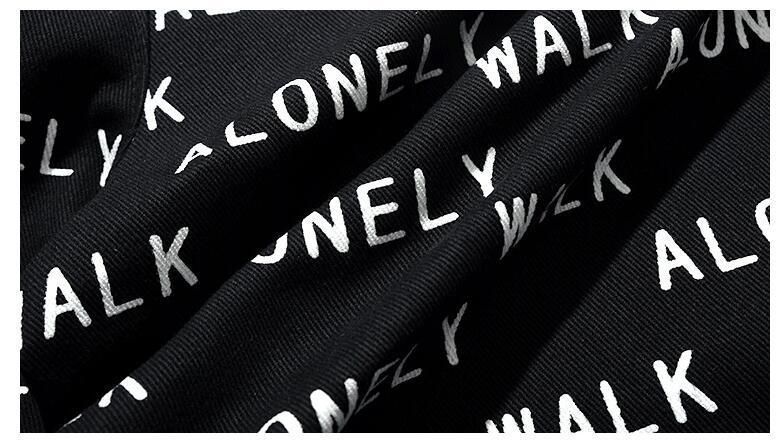 Großhandel 2018NEW Gezeiten Marke Street Fashion Hosen Einsame Spaziergang Brief Volle Indische Männer Casual Hosen Bein Hosen Bündchen Strahl Von