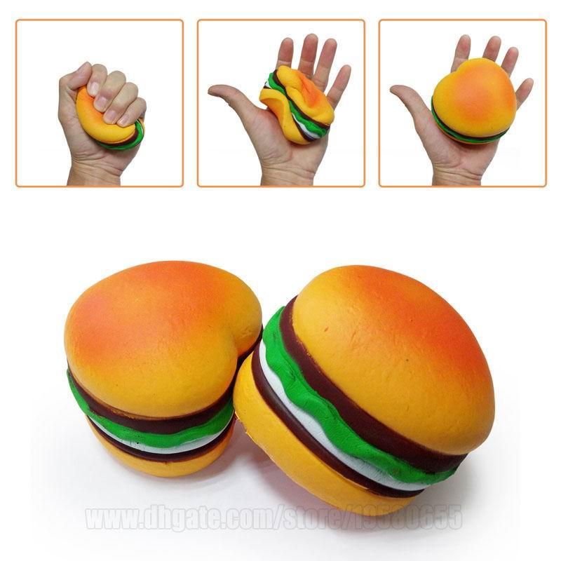 Jumbo Squishie hamburguesa lenta Rising blando perfumado en forma de corazón Toys Comida bollo grande Simulación correa del teléfono envío SQU024