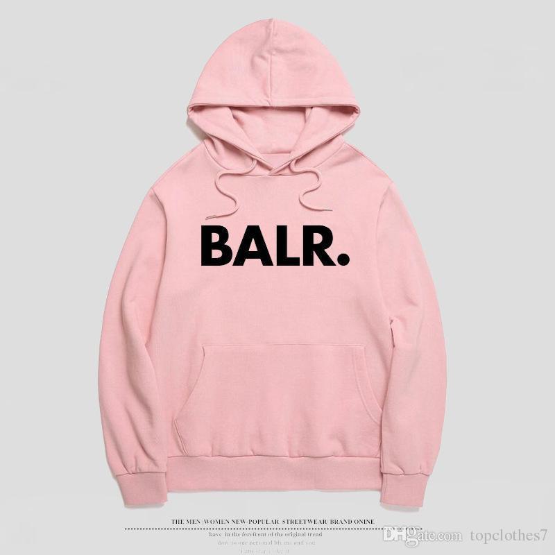 2018 флис BALR повседневная унисекс толстовки толстовка прохладный хип поп пуловер мужская спортивная одежда пальто Бегун спортивный костюм любителей толстовки