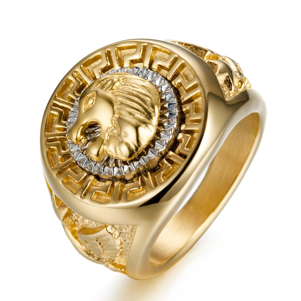 Stainless Steel Hip-Hop Ring Lion Head Ring Tide Brand High Quality Men Titanium Steel Ring Free Shipping