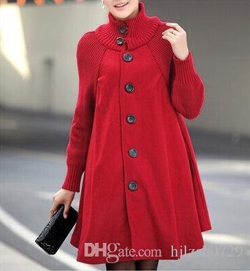 2018 الشتاء أزياء النساء حجم كبير جديد طويل فضفاض الصوف معطف طويل الأكمام خياطة واحدة برستد معطف السيدات