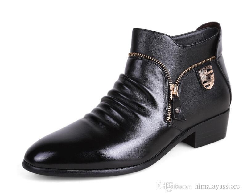 Deri Erkekler Elbise Erkekler Rasgele Flats Ayakkabı için Gerçek Deri Bullock Oxfords Shoes