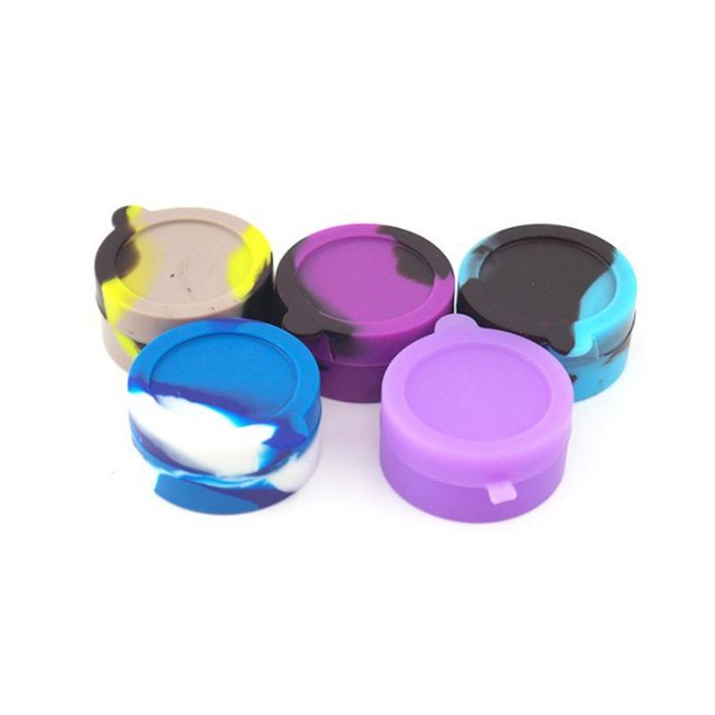 Antiadherente 10 ML Contenedores de cera Caja de silicona Tarros Tarro de almacenamiento de aceite Titular de la píldora Cajas múltiples Usos Accesorios Vape Hookah DHL