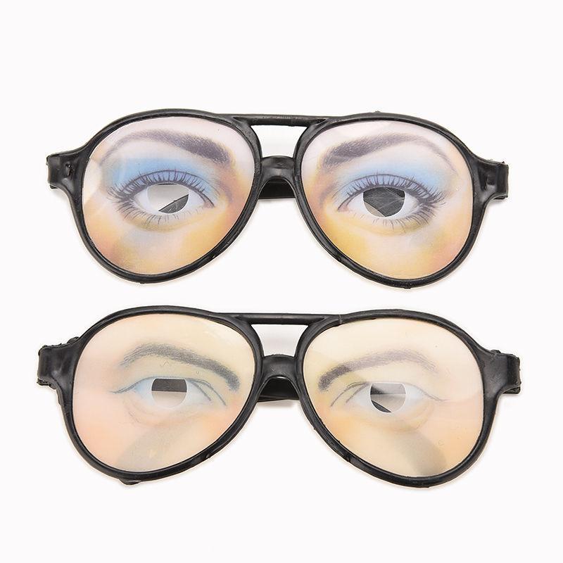 Funny Glasses Frame Eyes Frames Mischief Gag Toys Men Women Holiday Gift Christmas Halloween Joke Gift Santa Present