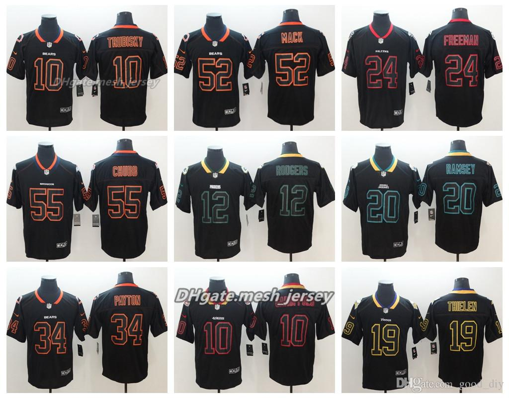 outlet store sale 4fcca 00e71 2018 Black Shadow Green Bay Packers Jersey Jaguars Houston Texans San  Francisco 49ers Minnesota Vikings Detroit Lions Color Rush Football Jerseys  From ...