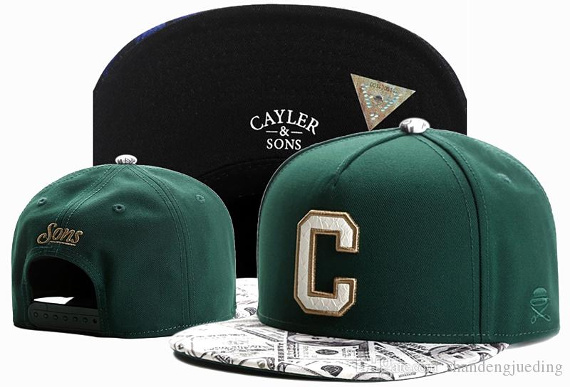 Headwear cayler sons Snapbacks Caps flat brim green adjustable baseball snapback hats fashion cap men women hip hop hat
