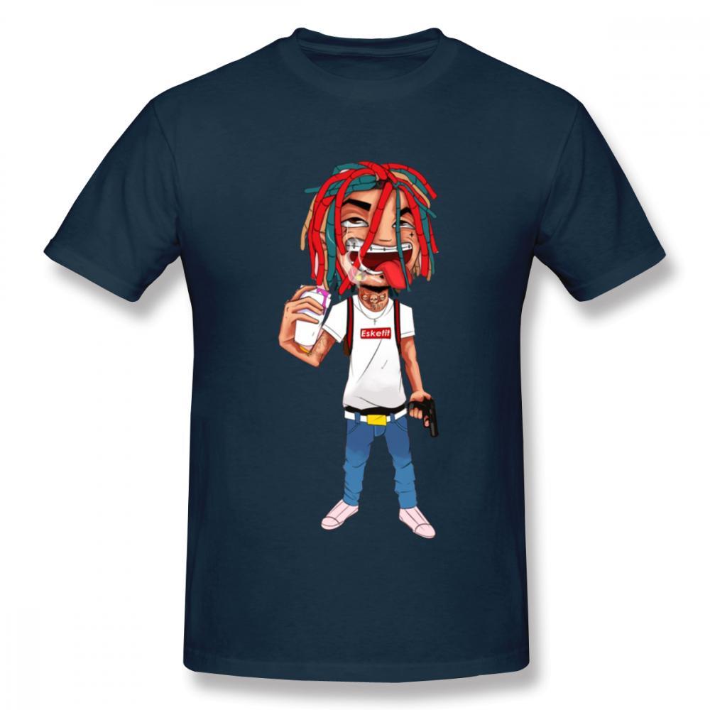 For Man Lil Pump Cartoon T Shirt New T Shirt 100% Cotton T Shirt Plus Size Top Design Summer