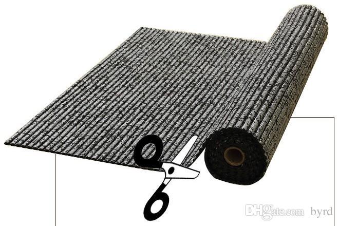 Staubdichtes Bodenmatte PVC geschäumte verdickten Rutschfeste Matte rechteckigen Streifen Bad Teppich 65 * 200cm / 130 * 100cm Y004