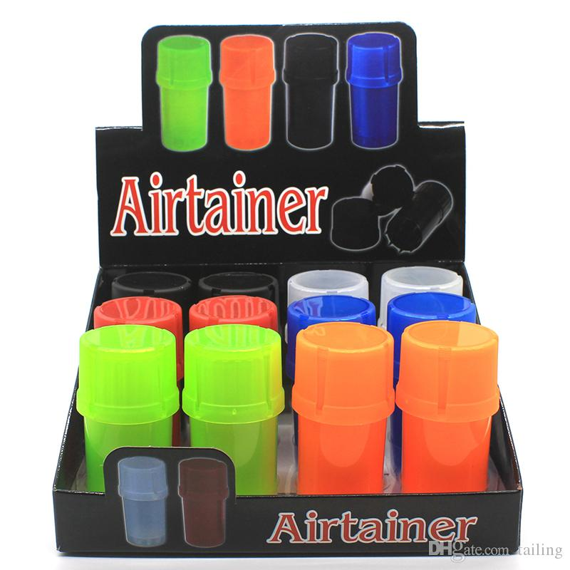 Hot sales in stock Acrylic Bottle Style Herb Grinder Airtainer Herb accessories 4 layer herb grinder 0266214