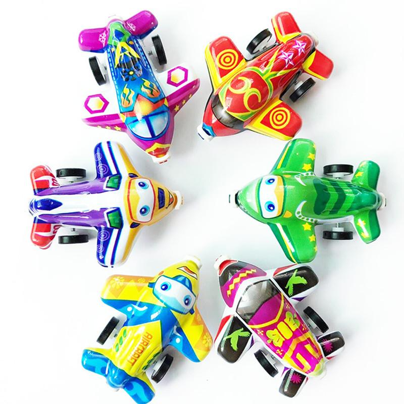 12PCS 5.8cm Pull back plane kids happy birthday party favor baby shower boy girl baptism gift party supply pinata goodie bag