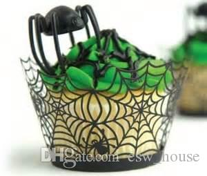 1pc Halloween Paper Cupcake Wrapper Cupcake Toppers Kids Favors Party Decoration Cake Topper Halloween Cake Around