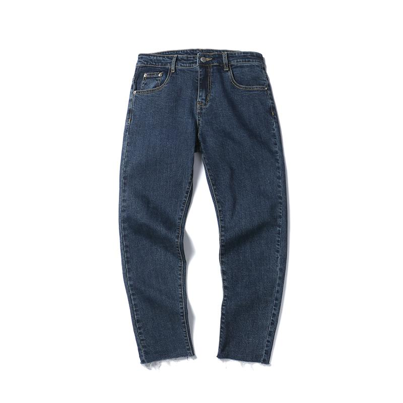 new spring 2018 han edition of easing pants for men show thin jeans bf straight canister of two colors good quality denim