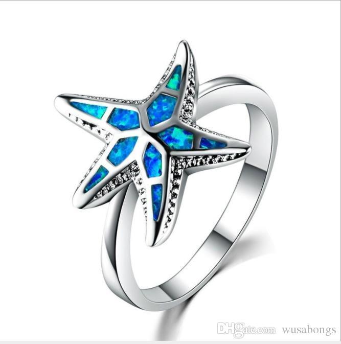 Joyas, joyas, anillos dama de mar.