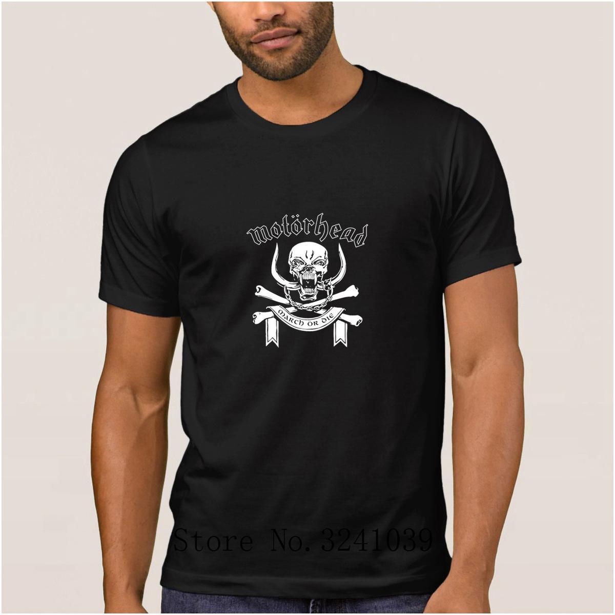 La Maxpa напечатаны основные марта или умереть Лемми Килмистер тяжелый металл Майка мужчины 2017 футболка мужчины Большой хлопок обычная футболка для мужчин