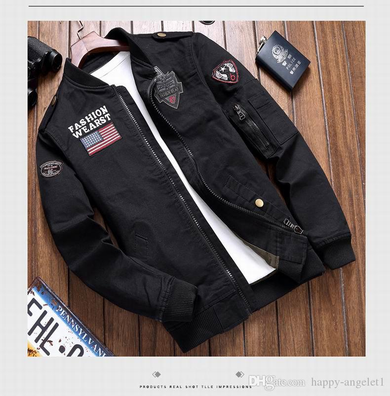 2018 nouveaux hommes veste haute qualité vêtements pour hommes Casual Mode Vintage installation militaire hommes manteaux manteaux