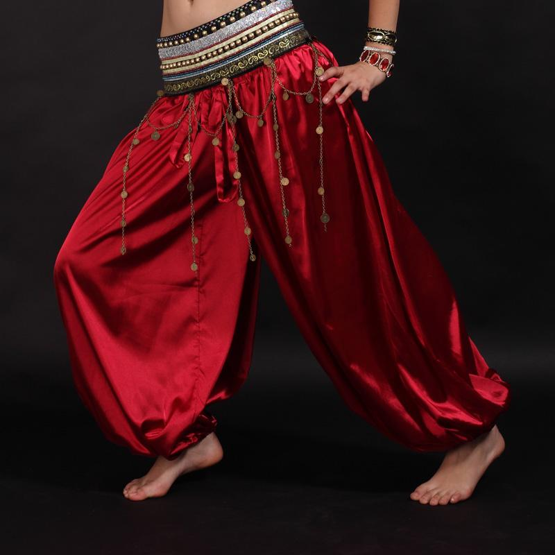 2018 barriga traje Dance Dance Calças Bloomers tribais calças barriga Yoga Mulheres homens soltos calças vermelhas