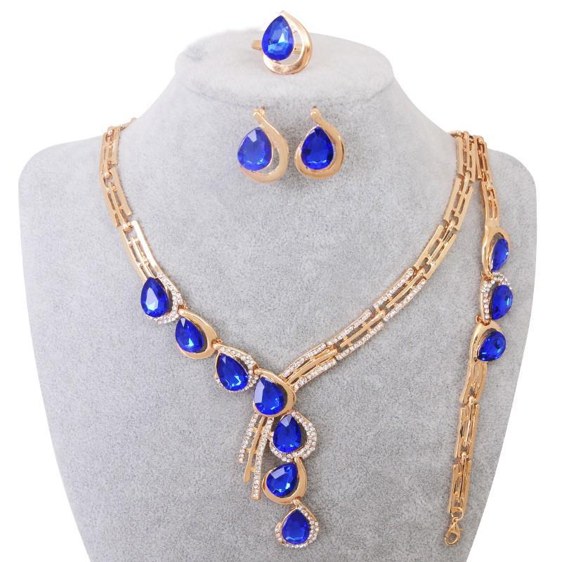 Элегантный Африканский кристалл воды ювелирные изделия женщин ожерелье серьги партии