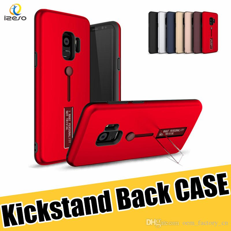 Kickstand Phone Case Hybrid Armor Stand Cover with Rubber Ring Holder Cases for Samsung S20 NOTE 10 S10E M10 iPhone 11 Pro izeso