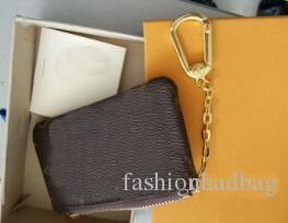 NEW KEY POUCH Damier lona detém alta qualidade famoso designer clássico mulheres chave titular moeda bolsa pequena leer com saco de caixa de presente sap # 2258