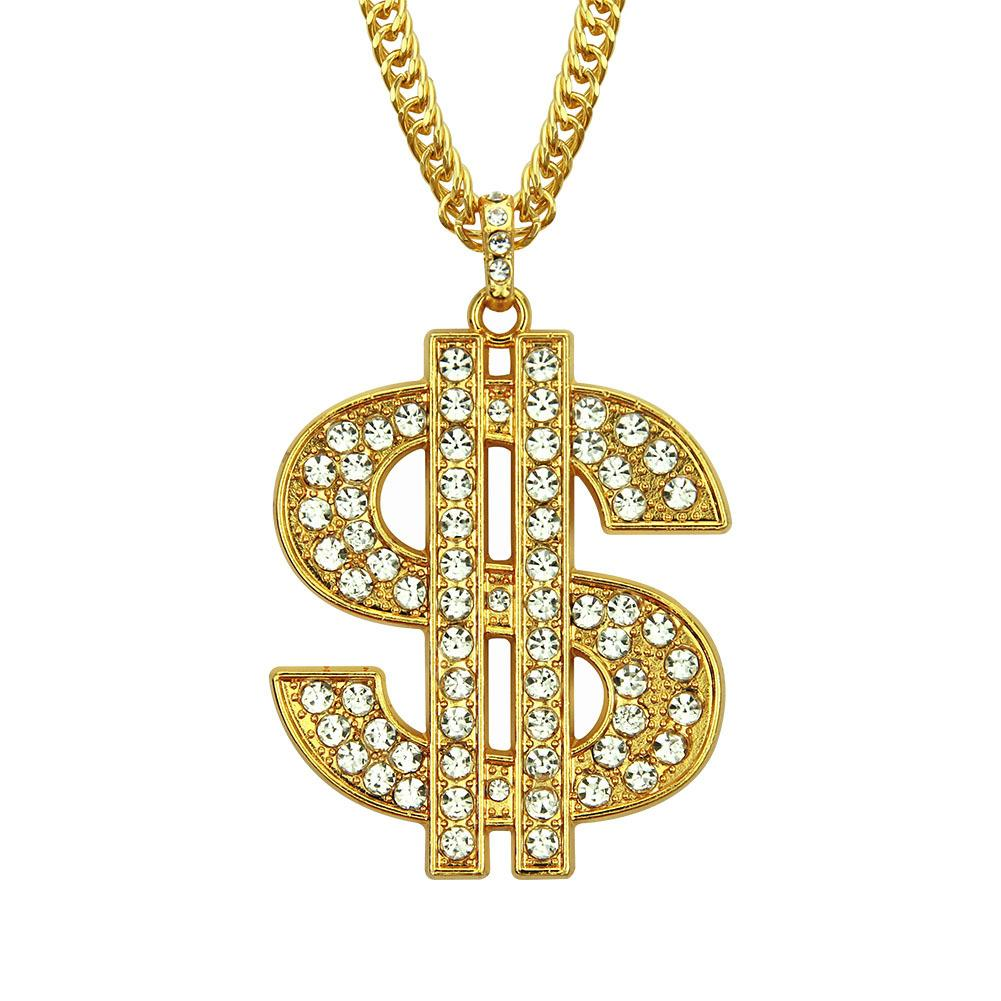 Hip hop gold plated creative Pendant Necklace alloy long chain Hip-hop rap style jewelry necklace yiwu factory direct checp price wholesale