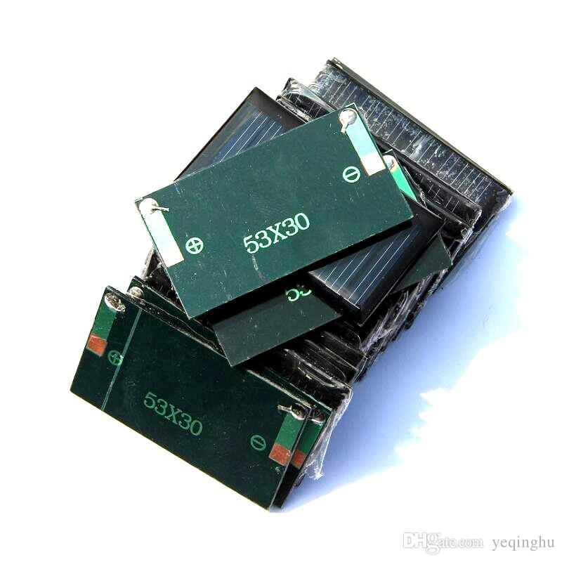 DIY 교육 연구 키트에 대 한 5V 30mA 미니 다결정 0.15 와트 태양 전지 배터리 패널 충전기 작은 3.7V 배터리 장난감