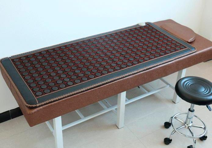 Therapy Jade Mat Tourmaline Electric Heating Massage Mattress with Far Infrared Theraphy Massage Cover Beauty Centre Use 0.7X1.6M