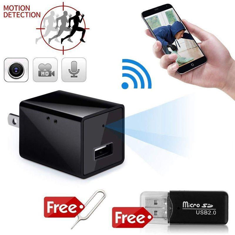 HD 1080P WIFI شاحن كاميرا مصغرة dv usb الجدار المقبس dvr مع كشف الحركة الهاتف المحمول شحن قابس لكاميرات الأمن مكتب المنزل