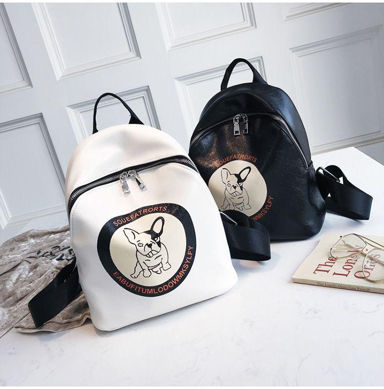 Puppy shoulder bag 2018 summer new wave Korean version of the crown puppy print portable backpack bag wild backpack
