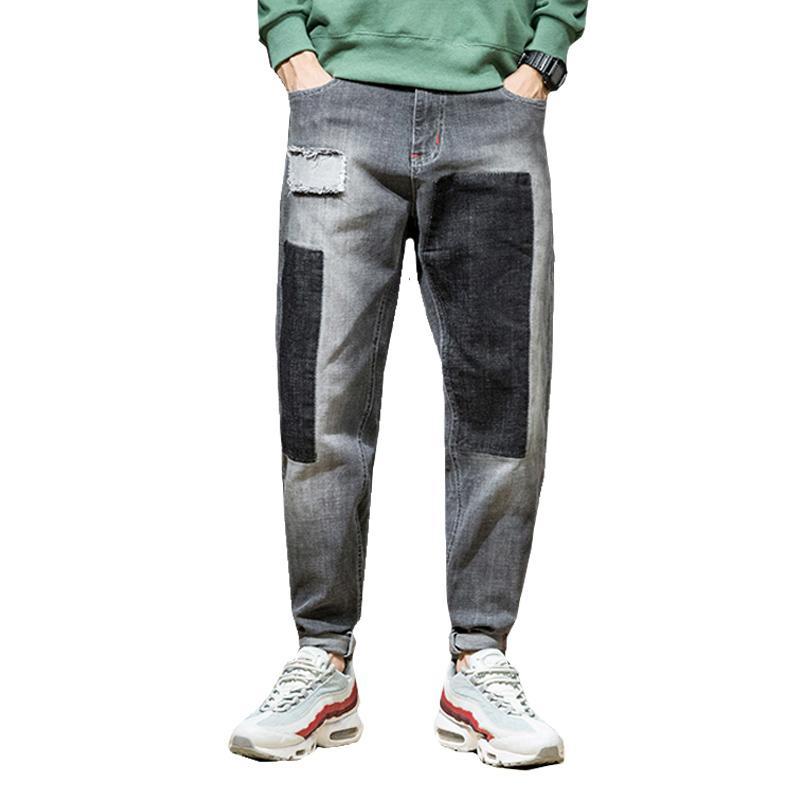 2019 KSTUN Harem Jeans For Boys Baggy Slacks Trousrs Spliced Patch Moto Biker Jean Man Hiphop Pants Casual Denim Streetwear Plus Size From Bellecome,