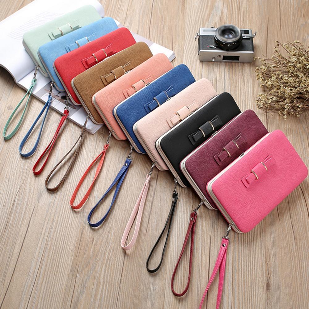 17.8 * 10.2 * 2.8 CM Cüzdan Çanta Deri Telefon Kadın İşlevli Ilmek Para Kart Moda Tutucu Çanta Hediye Aşk Çok Renkli Thaec