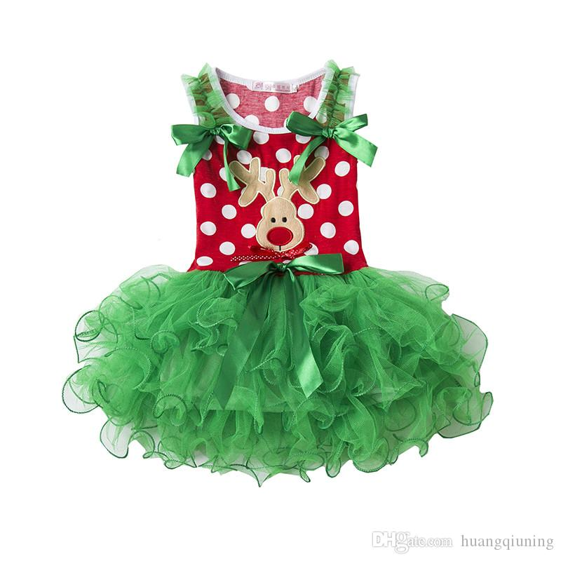 Christmas Dress For Party Girls Clothes Lace Tutu Tulle Girls Dress Polka Dots Festival Clothing Fancy Girls Clothes Events Children Frocks