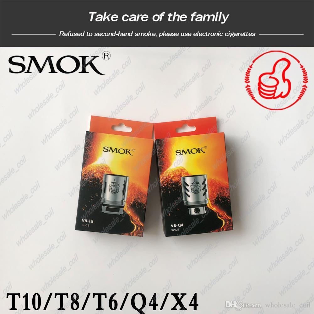 Autentica SMOK TFV8 Bobine Capo V8-T8 V8-T6 V8-Q4 V8-X4 V8-T10 Turbo V8 RBA bobine sostitutive Per TFV8 cloud Bestia serbatoio IN AZIONE
