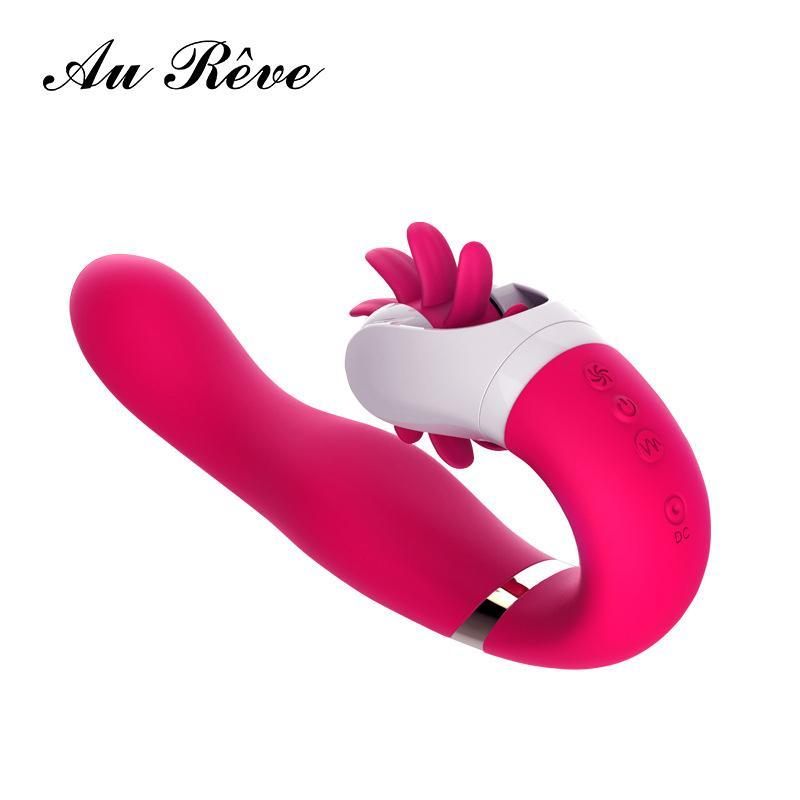 Лизать поцелуй отопление вибратор женский оргазм вращение язык вибратор клитор стимулятор G-spot фаллоимитатор для взрослых Секс-Игрушки для женщин S18101003