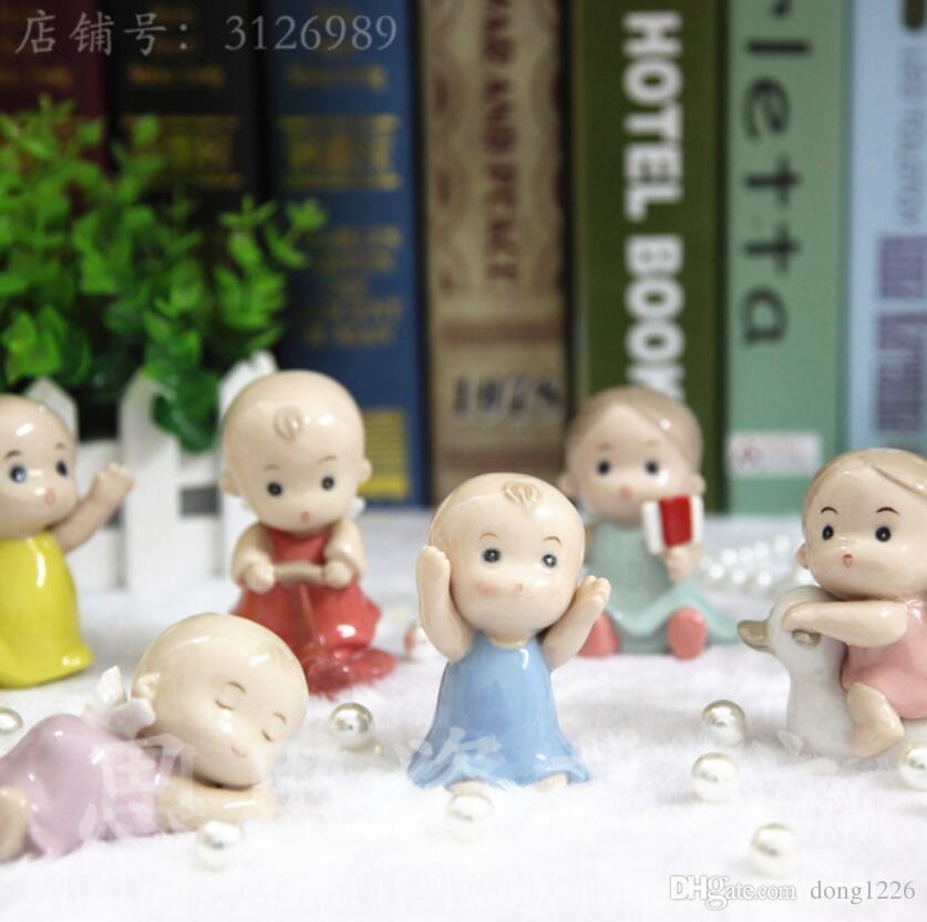Bambola di ceramica per bambini e bambine custode angelo casa arredamento artigianato Camera dei bambini decorazione artigianato figurine Decorazione di nozze