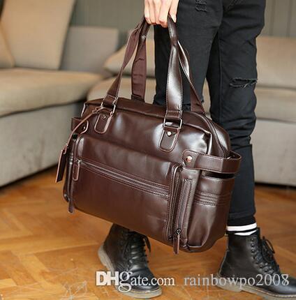 factor brand men bags fashionable leisure men leather shoulder BaoHu large mens leather bag outside tide joker brand men single shoulder bag