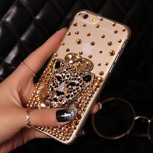 For iPhone XR X Skull Punk Case For iPhone 7 8 Plus Super Cute Skull Fashion Soft Diamond Leopard Case For iPhone XS Max Capa