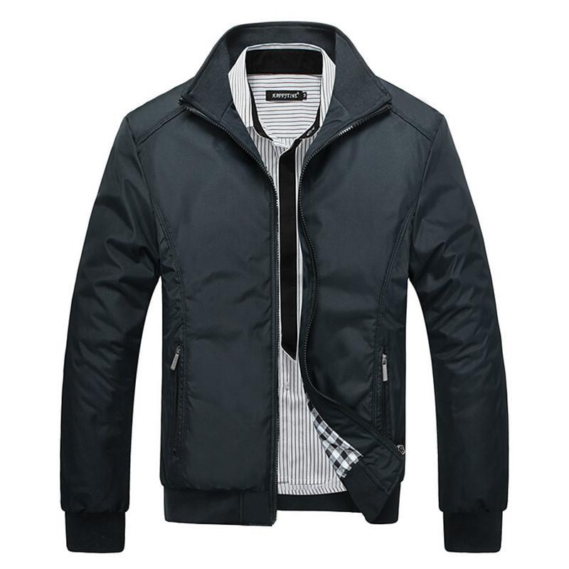 Черные тонкие модели куртка новый горячий продавать мода европейский стиль мужские куртки тонкий пальто черный тонкий модели куртка