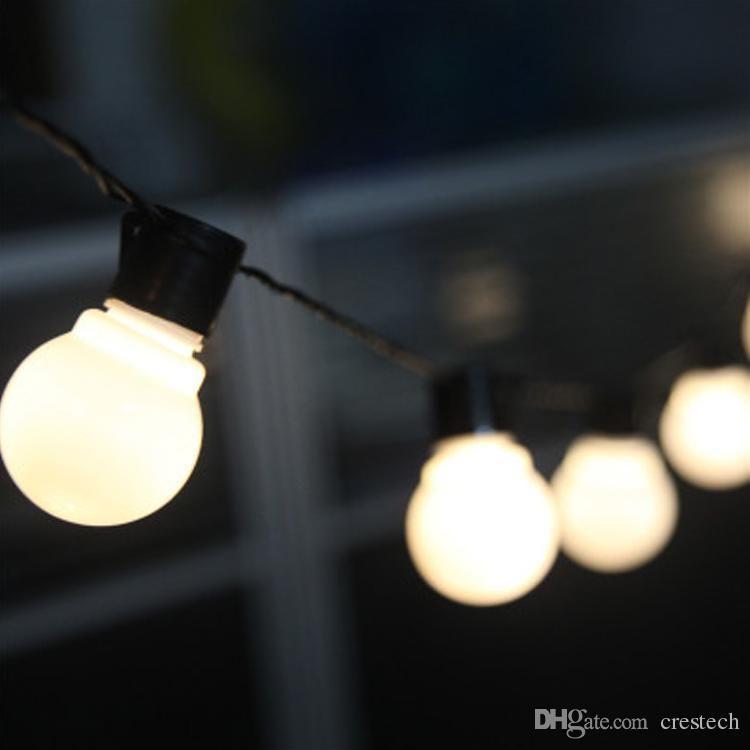 G45 led ampuller 2.5 m 5 m 10 m Noel ışıkları 110-220 V led su geçirmez ışık açık Tatil ışıkları