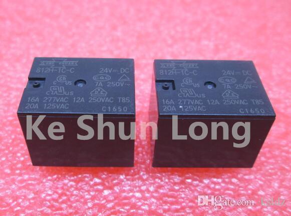 무료 배송 로트 (5 개 / 로트) SONG CHUAN 812H-1C-C-24V 812H-1C-C-24VDC 812H-1C-C-DC24V 5PINS 12A 24VDC 파워 릴레이 오리지널 신품
