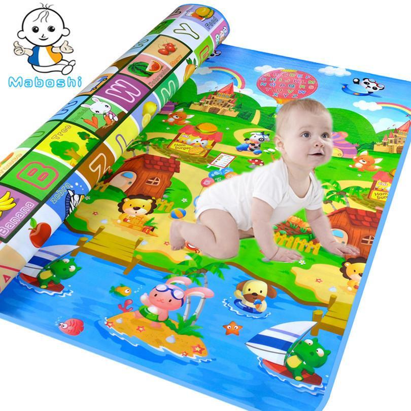 Maboshi Waterproof Baby Crawling Mats Ocean And Zoo Children Play Beach Game Eva Foam Soft Carpet Rug Toy 180*120CM