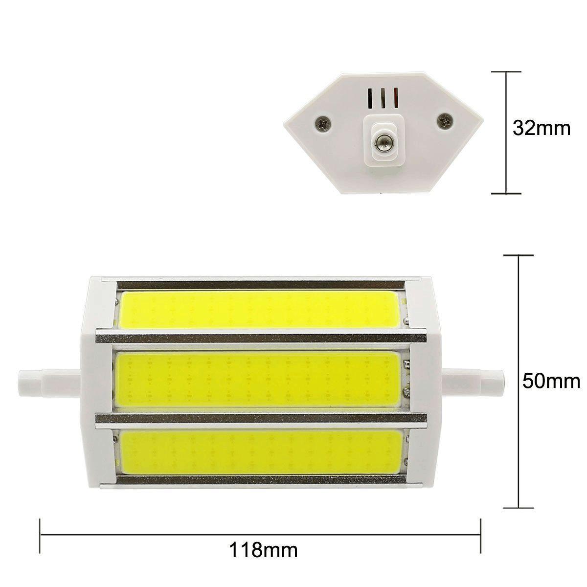 R7S 118 millimetri COB lampadina LED R7S 10W / 800LM - Non-dimmable - AC85-265V J Doppio 80W R7S J118 lampada alogena sostitutiva